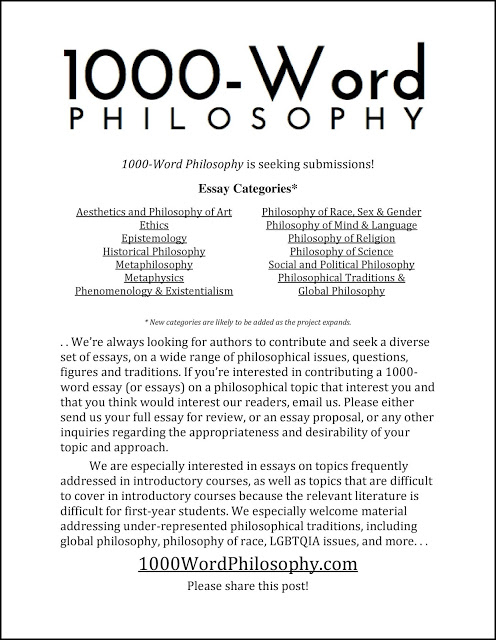 cfp word philosophy american association of philosophy   1000wordphilosophy com